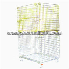 Steel roll container/metal wire cage/cage bins for sale