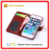 [UPO] Luxury mixed color Mobile Phone Leather Case for iPhone 5,for iPhone 5 Case