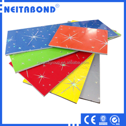Aluminum Coated with Laser Effect Series Aluminum Composite Panels Price