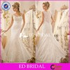 Vintage Lace Scoop Neck Mermaid Wedding Dress Made In China