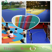 Used Indoor and Outdoor PP Interlock Sport Court Flooring