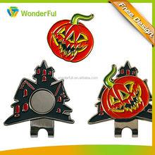 Halloween style golf cap clip ball marker