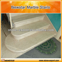 Beige Marble Steps with Marble Riser