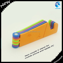 Foldable Mobile Cell Phone MP3 Charge Wall Holder plastic mobile phone holder