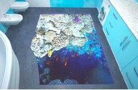 Clear liquid epoxy resin 3D floor paint