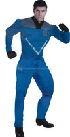 TF-01150908003-D12Hot sales in 2015. Avengers Halloween Costume the Fantastic Four Cosplay Adult, Fantastic 4 Cosplay for Men