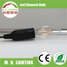 Hot Candle Lamp E27 360 degree Beam angle C35 LED Filament Bulb in low cost
