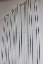 polyester linen like beaded sheer curtain