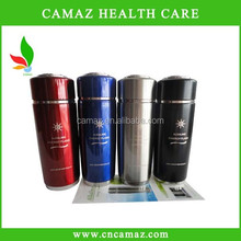 energy nano flask for alkaline water PH 7.5-9, silver, black,red,blue color can OEM