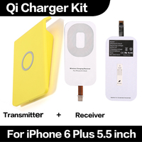 Good Quality Hot Sale Qi Wireless Charger Receiver Transmitter Kit for iPhone 6 Plus 5.5 inch