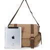 Khaki canvas pattern shoulder bag for Ipad