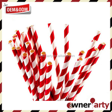 Let's Party Cheap Red And White Paper Straws