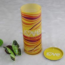 Yellow PVC PET transparent perfume tube