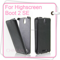 Elegant Business Style Thermoforming Luxury Flip Cover Mobile Phone Bags for Highscreen Boot 2 SE flip Cover