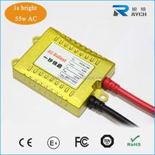 Gold color ac 55w fast bright ballast with hid xenon lamp h1 h4 hi/lo 9006 9005