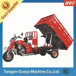 Hydraulic dumper 300CC three wheel cargo motorcycle