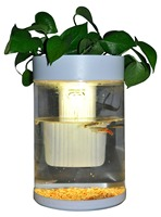 Maxware DC-12V aquarium RGB led light plastic cylindrical fish tank