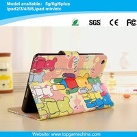 Super popular cartoon character printing leather case for ipad air 2