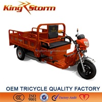 Hilly arear loading electric tricycle/electric rickshaw/electric 3 wheels supply kingstorm