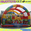 Children Playing Inflaed Bouncy Castle, Majestic Inflatable Castle