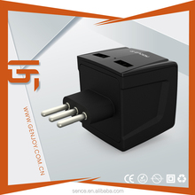 2015 electrical product switched poweful travel adapter with usb
