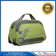 factory sale man travel duffel bag with trolley