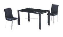 mirrored glass dining room table chairs / dining table and chairs DM009