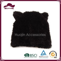 Alibaba hot sale kids winter hat, acrylic hat with animal ears