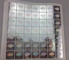 Customized adhesive 3D hologram stickers with ISO9001 and ISO14000 certificate