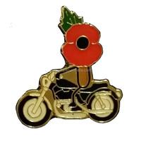 Metal motorcycle poppy pin badge/Auto poppy badge