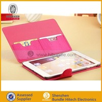 Hybrid PU Leather Wallet Flip Stand Case for ipad mini