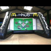 The hub football inflatable game,hot sale inflatable soccer shoot/football goal
