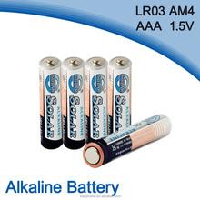 7# size aaa lr03 alkaline battery factory