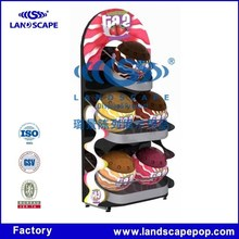 Customized high quality floor standing basketball metal display stand