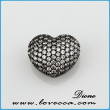 Valentine's Day romantic design cooper Zircon stone pendant with micropave jewelry setting for male and female symbol pendant