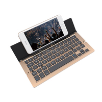 2015 hot seller Universal Ultra-slim folding Bluetooth aluminum keyboard for all tablets and smart phones