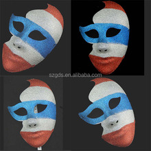 New 2015 Colorful paint make custom flag mask for Halloween and Carnival party venetian mask for decoration