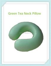 Fashion Modeling Green Tea Car Memory Foam U Shaped Neck Pillow As Seen On Tv For Traveling