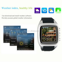 ODM 2015 custom longest Standby time GPS Navigation smart watch Bluetooth watch connect with phone