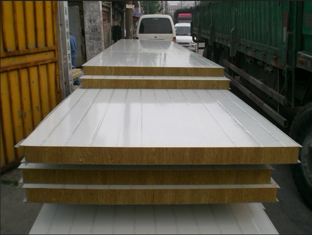 Rockwool sandwich panels for prefabricated house and clean for Rockwool insulation panels