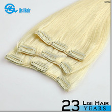 directly factory price double weft virgin cheap wholesale 220g double drawn cheap best clip in hair extensions for fine
