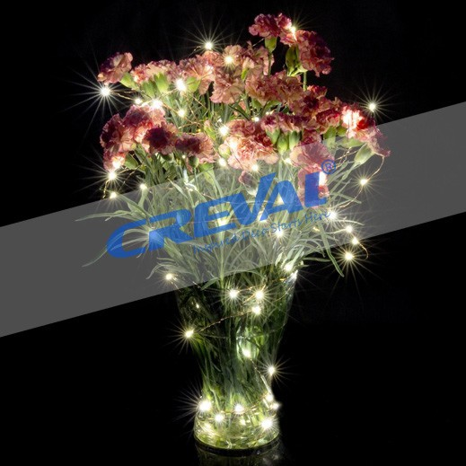 Centerpiece With Lights Quotes : Mini copper wire led flower string light for christmas