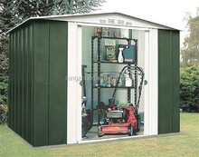 Two slopes storage shed / Flat Roof Metal Shed / Gable Roof Steel Shed