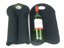 Wine Bag With Printing, Outdoor Cup Sleeves Wedding Decoration 2 Pack Collapsible Insulated Sublimation Logo Wine Bag