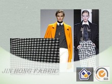 2015-2016 Hot Sale Knitting Fancy Houndstooth Wool/Polyester/Acrylic Blend Fabric For Fashion and Formal Wear