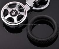 Custom Promotional tire Key chain /car tire key holder