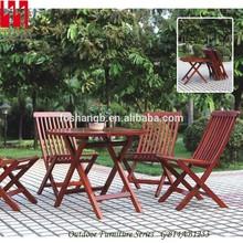 madera juego de jardín plegable silla y mesa