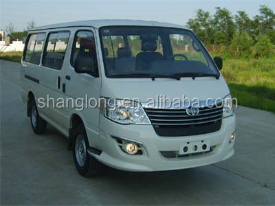15 Seats Gasoline Semi-High Roof Mini Bus