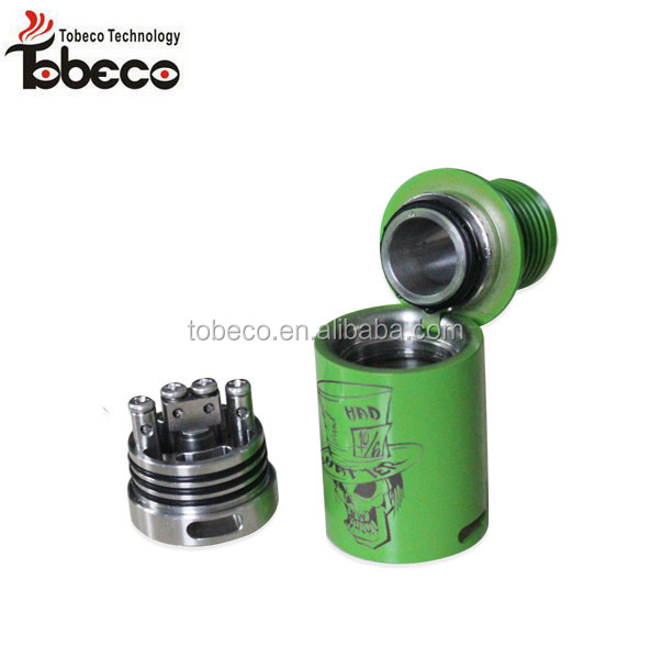 2015 creative updated verion ss rda turbo v1/v2, mad hatter with T post ecig accessories mad hatter rda