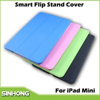 Colorful Auto Sleep Stand Smart Cover Flip Leather Case For iPad Mini, Leather Case For iPad Mini